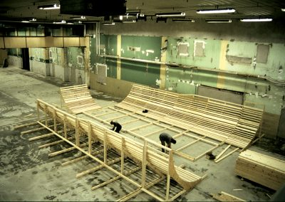 Construction of the bowl, which to this days is still around. Photo Nils Svensson.